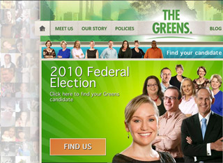 Aus Greens site